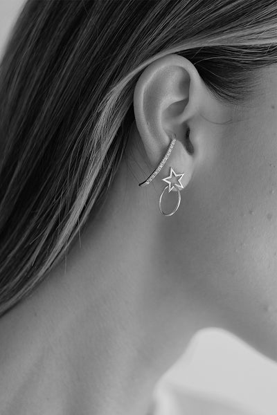 Star Earrings | Silver