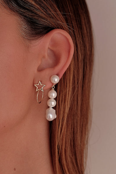 Star Earrings | 9K Yellow Gold