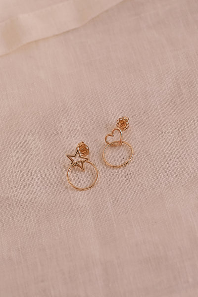 Star Earring | 9K Yellow Gold