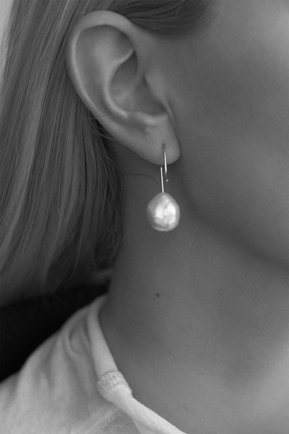 Stella Keshi Pearl Earrings | Silver
