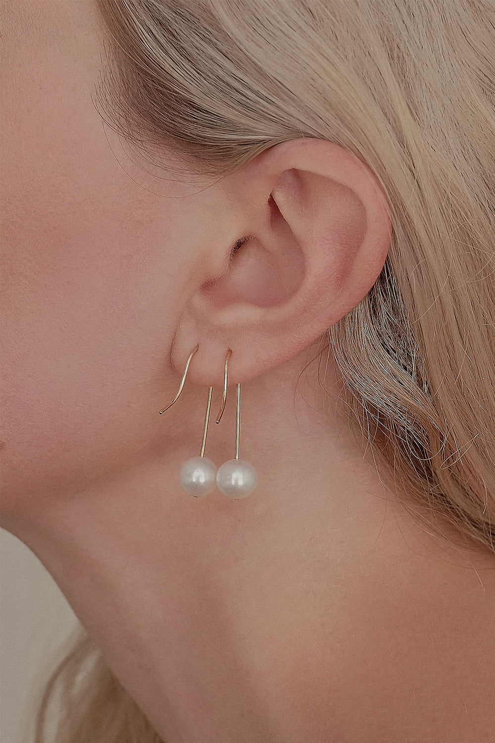 Stella Pearl Earrings | 9K Yellow Gold