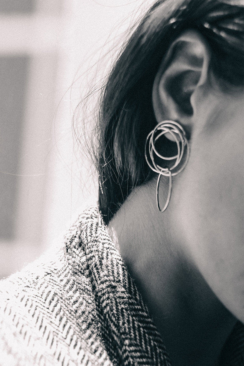 Stevie Earrings | Silver
