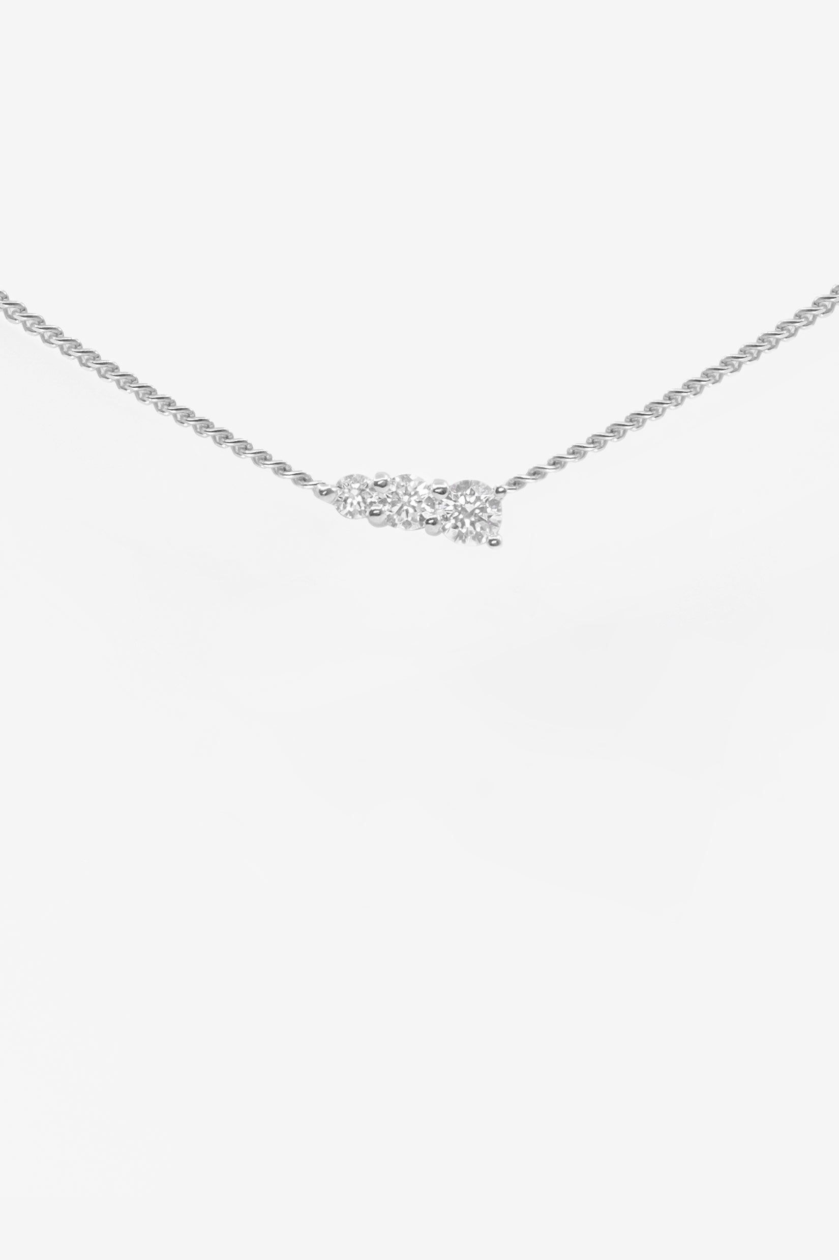 Aurora Necklace | White Gold