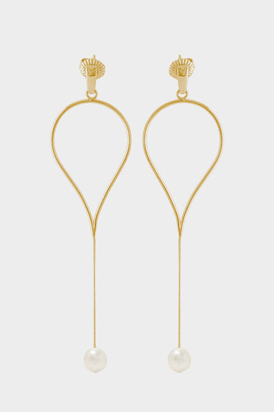 Aqua Drop Earrings | Gold Plated