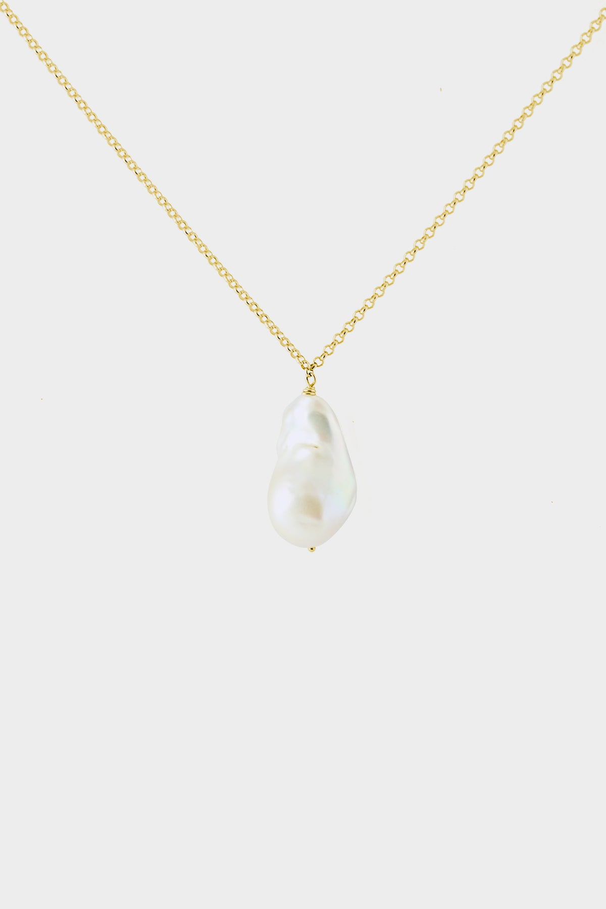 Baroque Pearl Choker | Yellow Gold