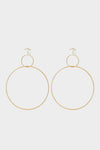 Natasha Schweitzer Double Drop Hoop Earrings with Pearl, Gold Plated