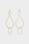 Infinity Twist Earrings | Gold Plated