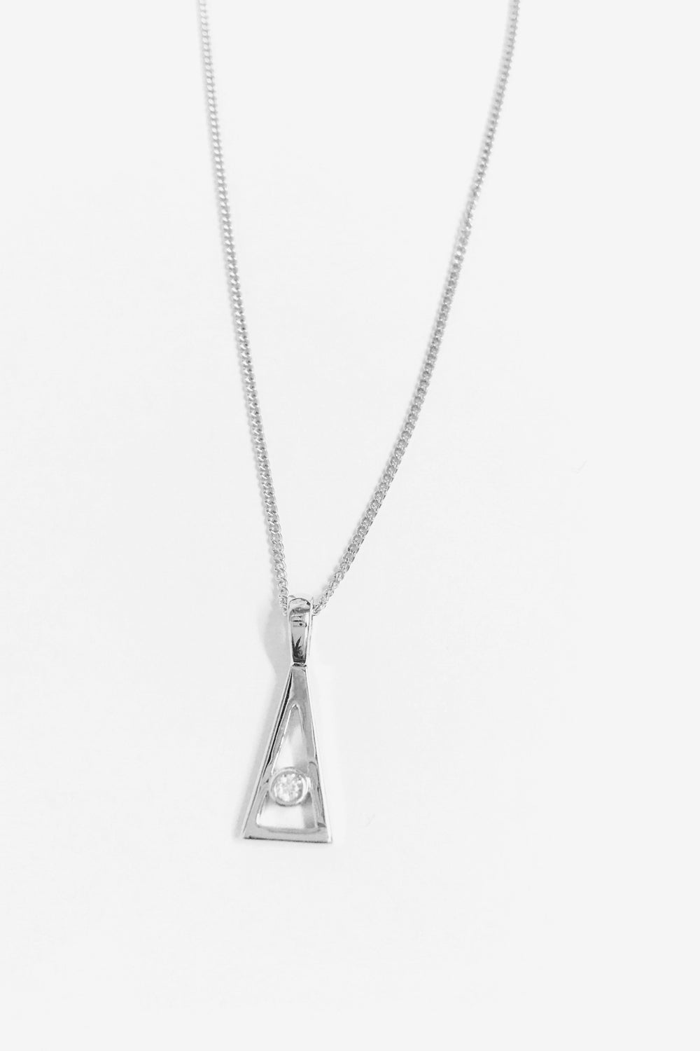 Jennifer Necklace | 9K White Gold