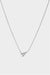 Jennifer Side Necklace | 9K White Gold