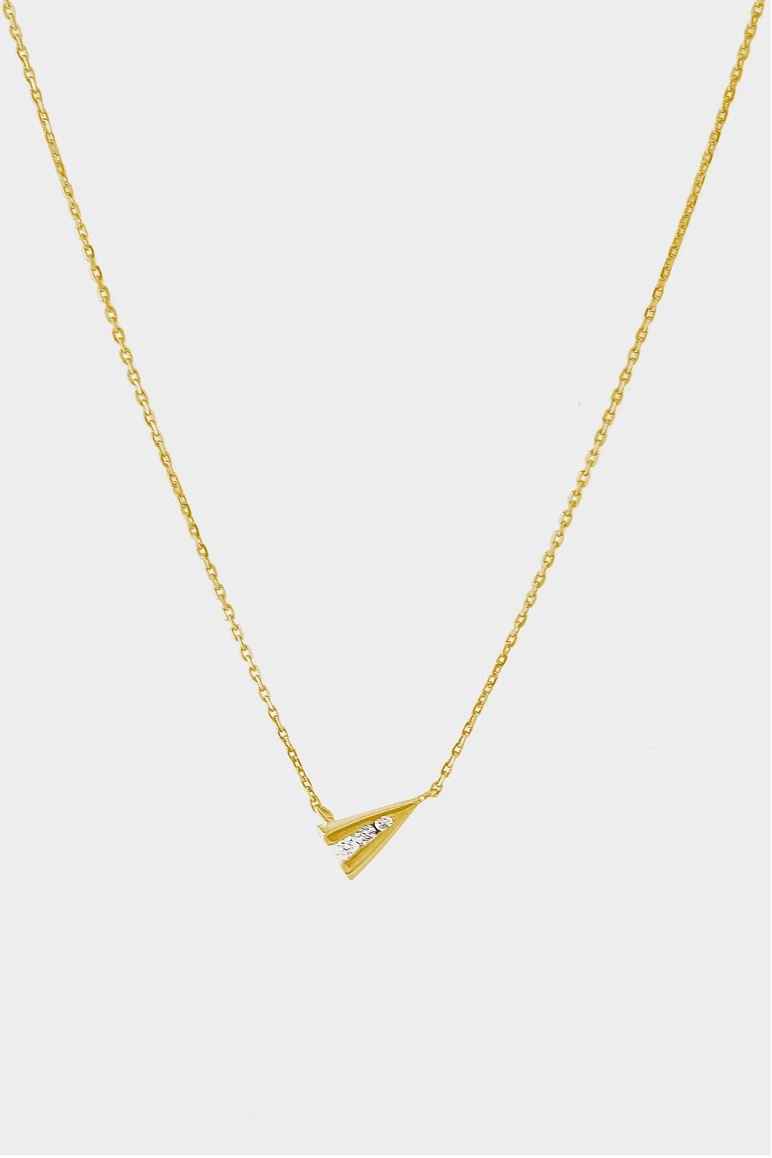 Jennifer Side Necklace | 9K Yellow Gold