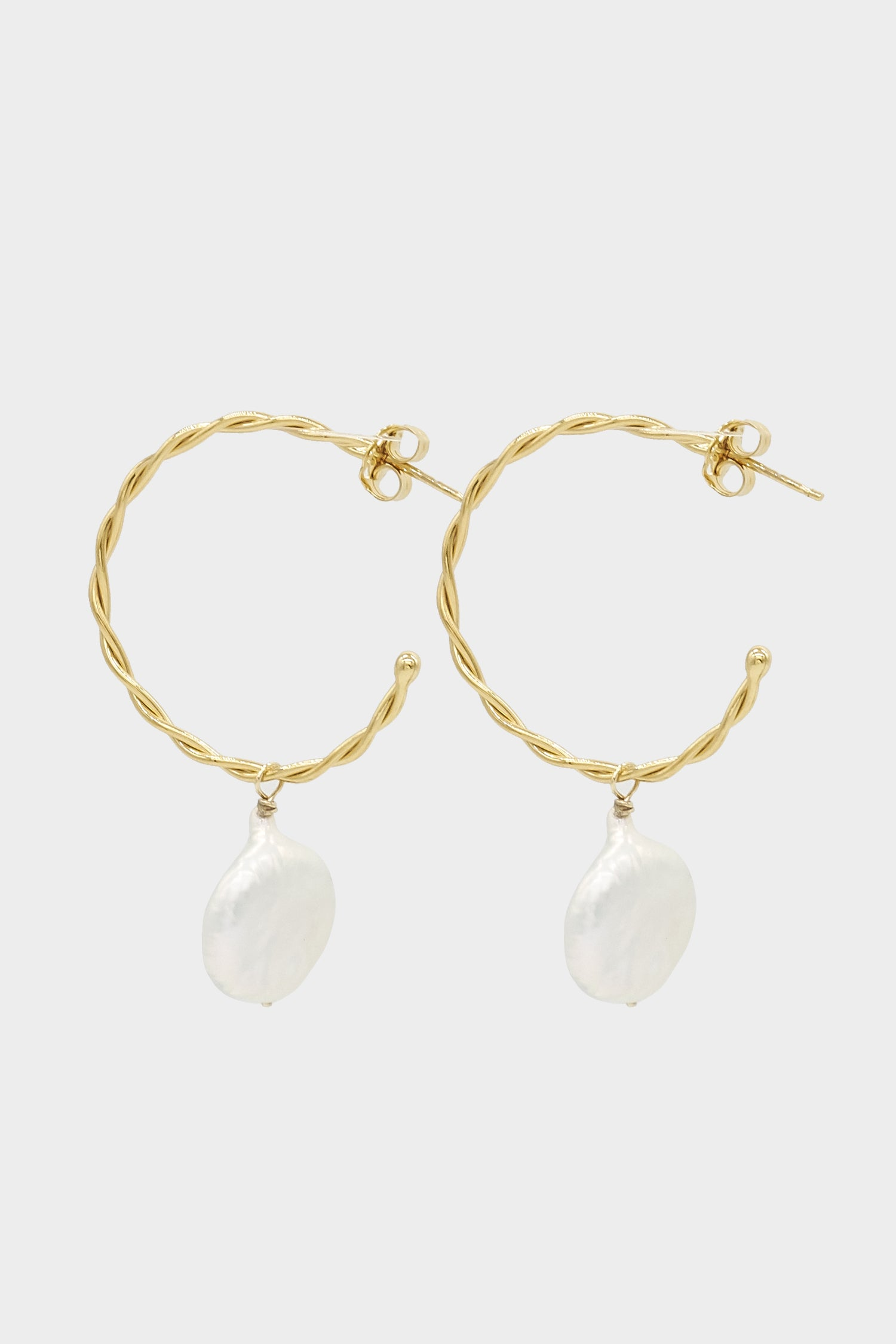 Helix Pearl Earrings Medium | Gold