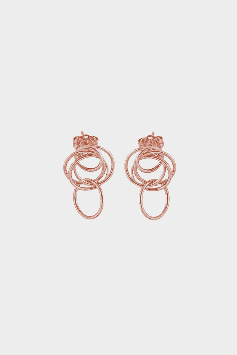 Mini Stevie Earrings | 9K Rose Gold