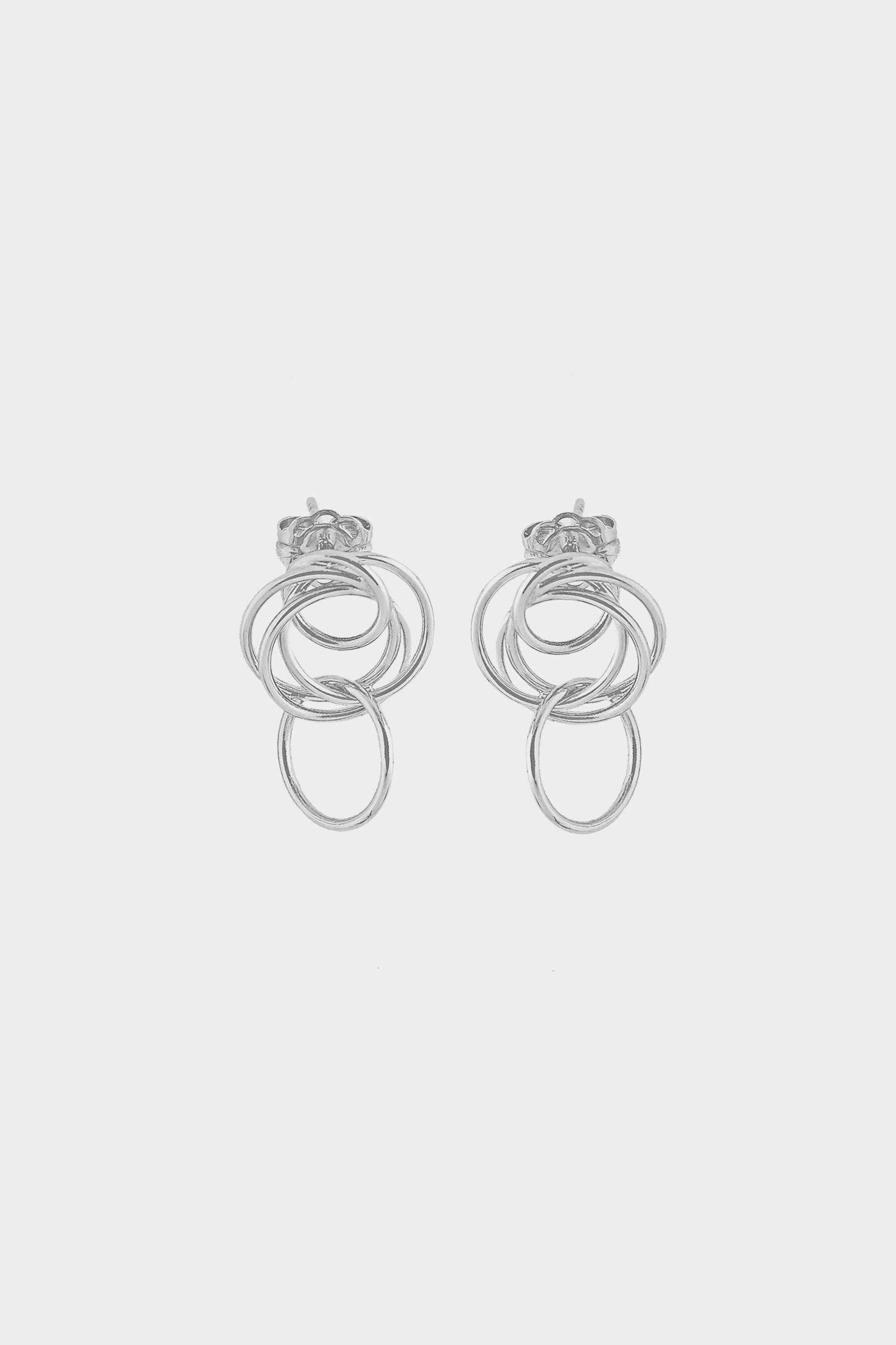 Mini Stevie Earrings | Silver