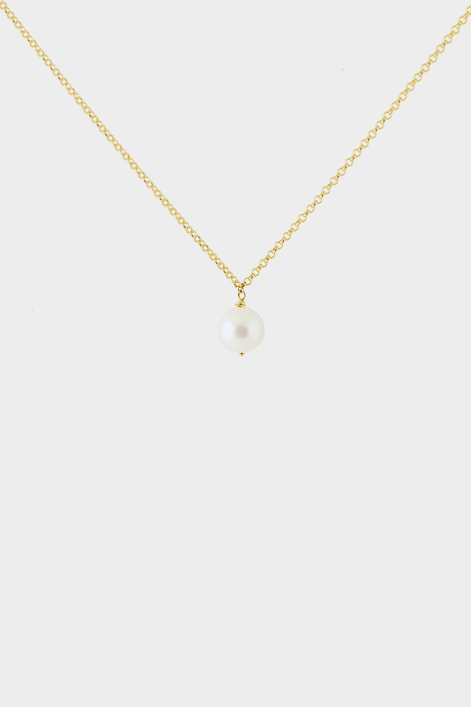 Round Pearl Choker | Yellow Gold