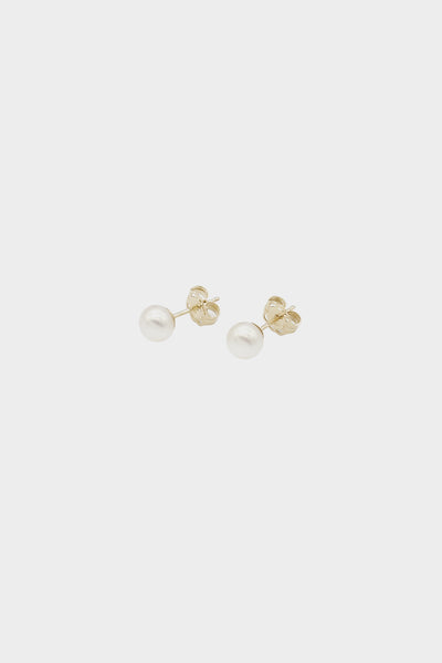 Pearl Stud Earrings | 9K Yellow Gold