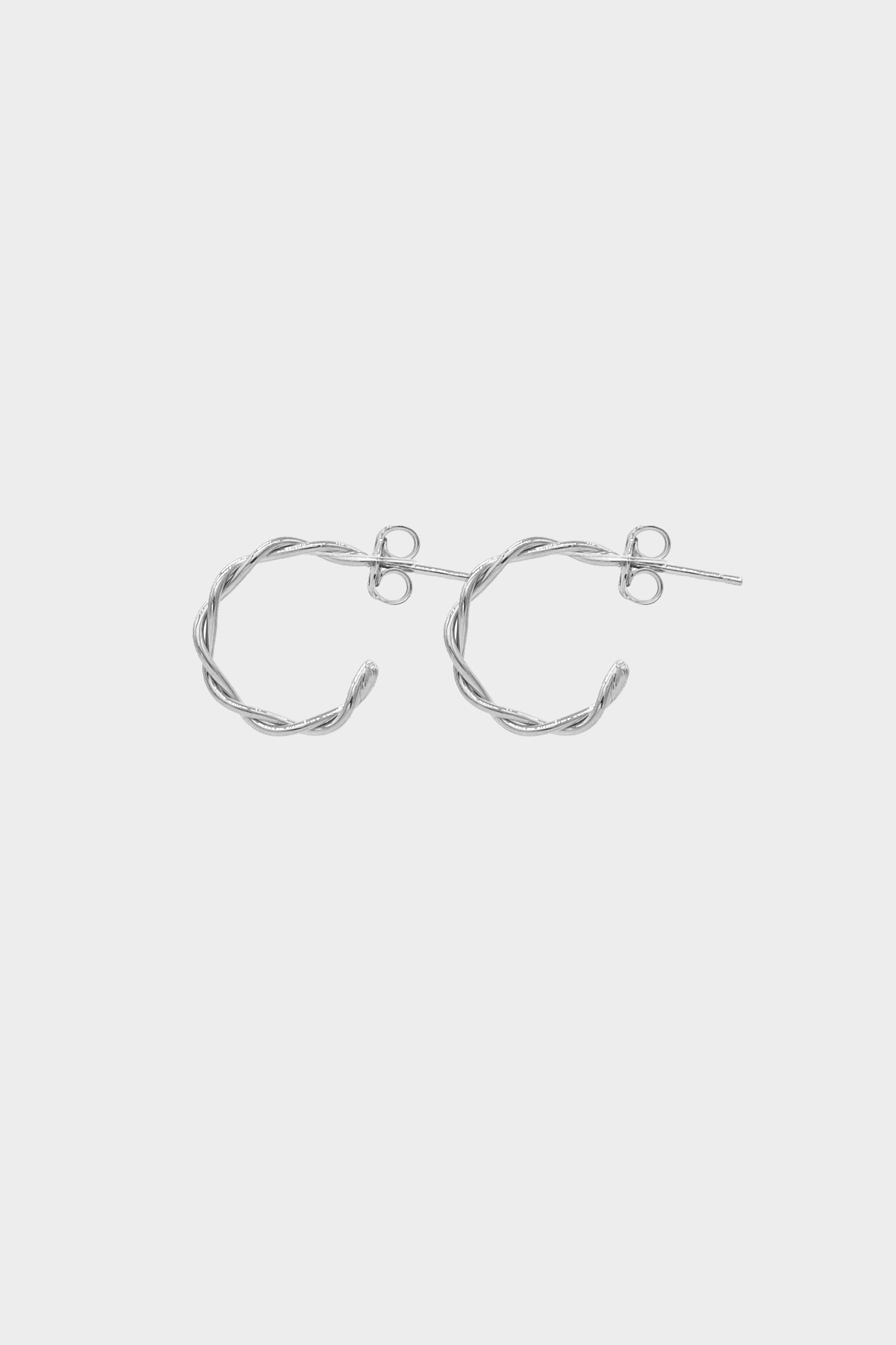 Helix Earrings Small | Silver