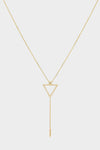 Diamond Triangle Lariat | 9K Yellow Gold