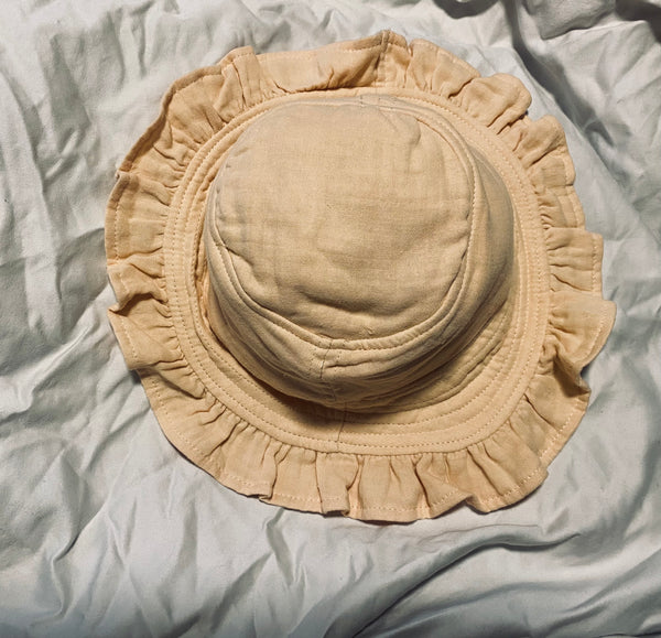 Muslin Sun Hat - Honey Frill