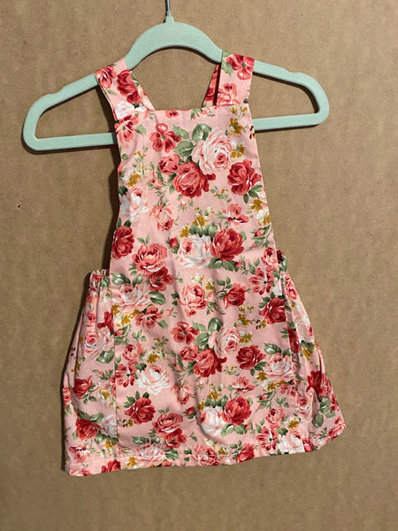 Floral Pinny Size 6-12 Months