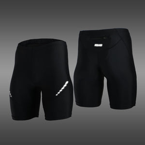 Pro Men's Running Tights Short Reflective Quick Dry Elastic Sports Leggings Compression Gym Fitness Shorts  Summer Sweatpants