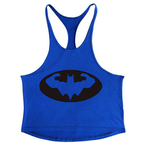 Fashion Bodybuilding Men's Batman Tops Coloured Fitness Gymss Clothing Tank Tops Undershirts Cotton Sleeveless Vest X-22