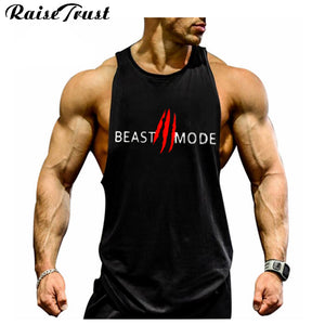 New 2017 fashion cotton  sleeveless shirts tank top men Fitness shirt mens singlet  Bodybuilding Plus size gymvest fitness men