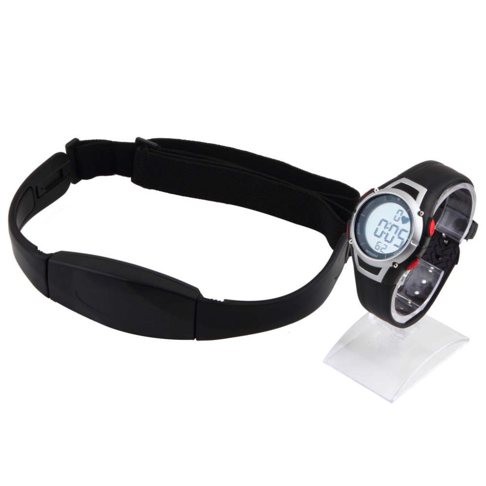 1Pcs Heart Rate Monitor Sport Fitness Watch Outdoor Cycling Riding Gym Running Waterproof Wireless Track + Chest Strap Equipment