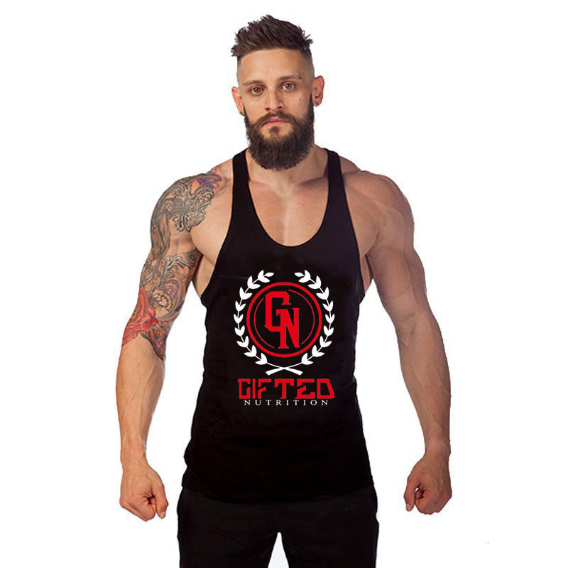 Cotton Tank Top Bodybuilding and Fitness Clothing Muscle Top Men Sleeveless Tops for Bodybuilder Wholesale Vest B-19