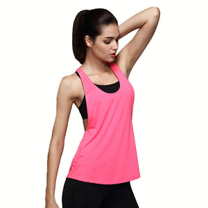 CKAHSBI Women Sports Shirt Sleeveless Breathable Sport Gym Jersey Cool Loose Yoga Tops Fitness Running T Shirts Women Sport Top