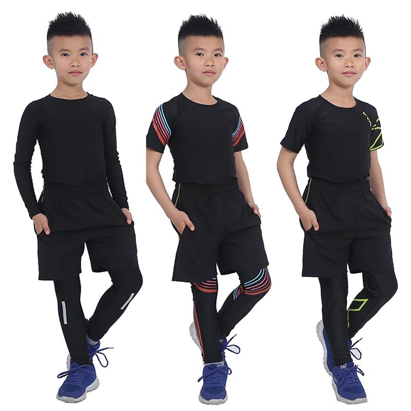 Survetement Homme 3 pcs KIDS Sport Suits Quick Dry Basketball Soccer Training Tracksuits child Fitness Gym Clothing Running Sets