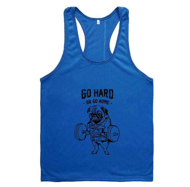New 2018 Mens Print Cotton Summer Loose Bodybuilding Fitness Tank Tops For Men Casual Active Muscle Sleeveless Shirts Tanks Vest