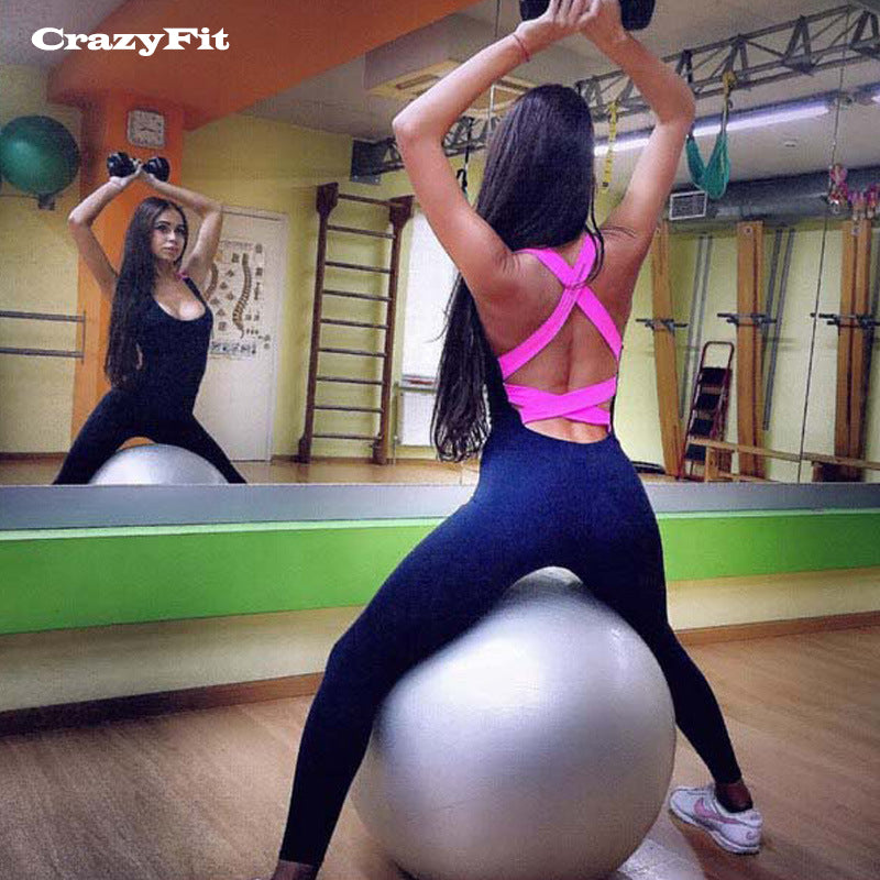2018 Sexy Yoga Set Jogging Suits Women Fitness Gym Workout Clothes Female Sportswear Sport Suit Wear Clothing Jumpsuit Tracksuit
