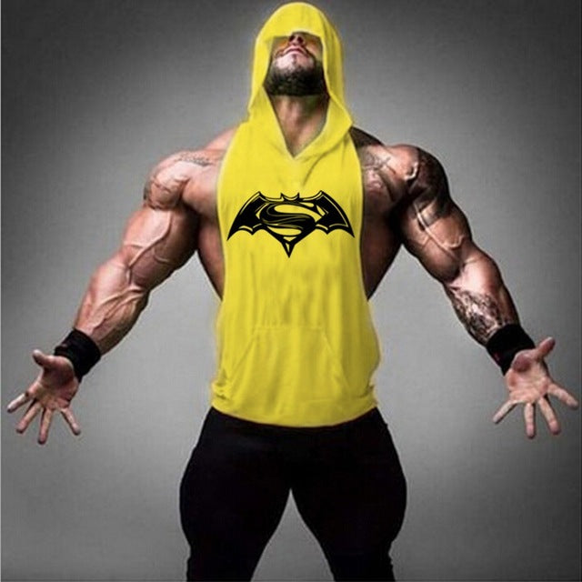 Men Cotton Hoodie Sweatshirts fitness clothes bodybuilding tank top men Sleeveless Tees Shirt golds Stringer vest H-15