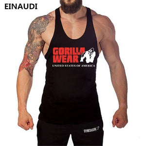 EINAUDI  New Arrivals Brand Men's Tanks Cotton Fashion Tank Tops Sleeveless Vests Casual Printed Gyms Tank Tops Men Bodybuilding