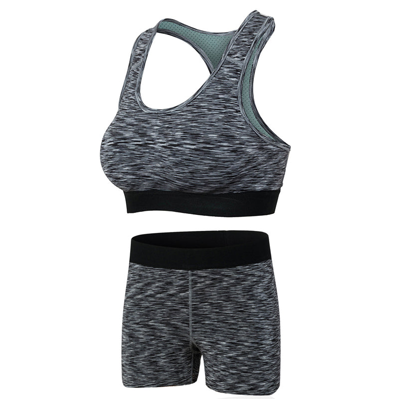 Summer Yoga Suits Sport Bra or Shorts Gym Fitness Bodybuilding Stretch Quick-drying Clothes Set Tracksuits Women Female Workout
