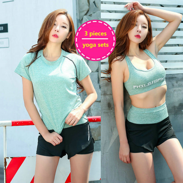 2017 Aipbunny Lulu 3 Pieces Women Workout Yoga Sets Gym Fitness Clothing Training Running jogging Suits Activewear Sports Wear