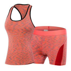 YD Women Sports Running Set Gym Tank Top Short Female Fitness Suit Workout Clothing Quick Dry Gym Sport Suit Yoga set