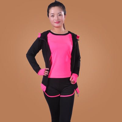 3pieces/4pieces Baby girl gym suit Adult-child matching outfit quick drying dancing running set yoga clothes sports wear