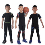 2 pcs KIDS Sport Suits Quick Dry Basketball Soccer Training Tracksuits child Fitness Gym Clothing Running Sets