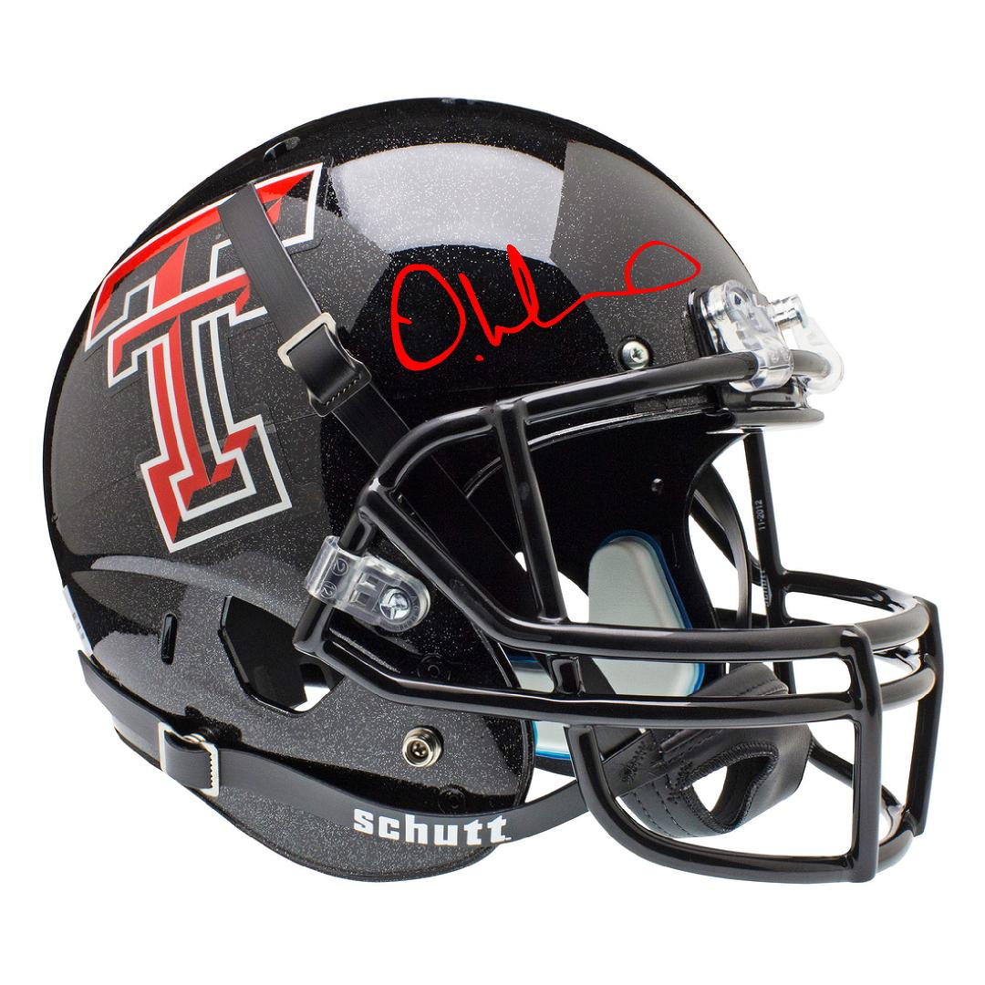 DeAndre Washington Autographed Texas Tech Full Size Helmet