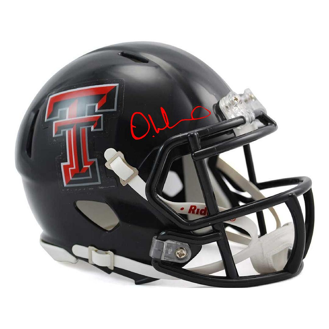 DeAndre Washington Autographed Texas Tech Mini Helmet