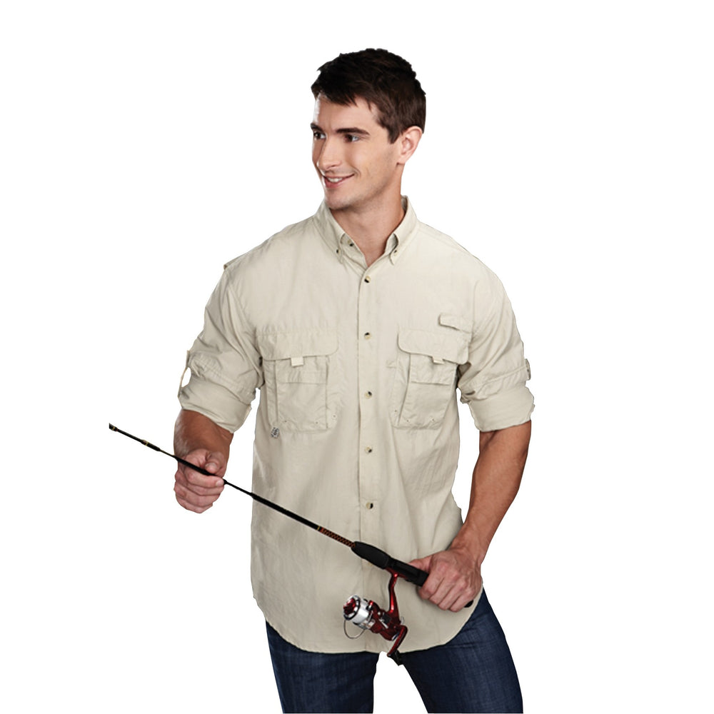 Tri-Mountain® Sportsman Marlin Nylon Long Sleeve Shirt