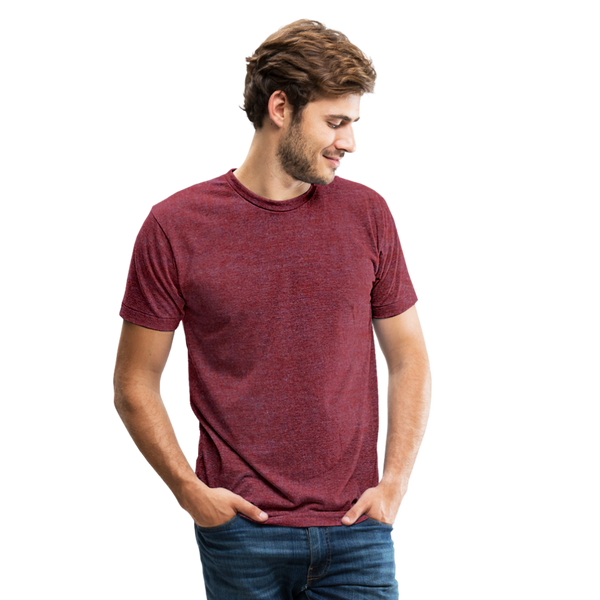 Unisex Tri-Blend T-Shirt - heather cranberry
