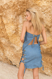 DUNE SKIRT - BLUE DENIM