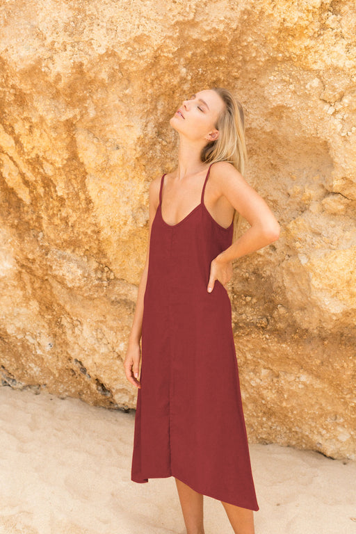 WANDERER DRESS - BURNT RED