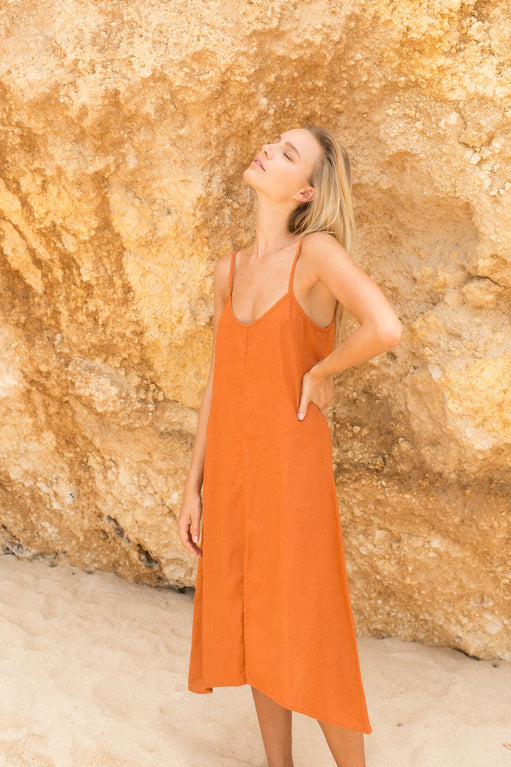 WANDERER DRESS - SUN ORANGE