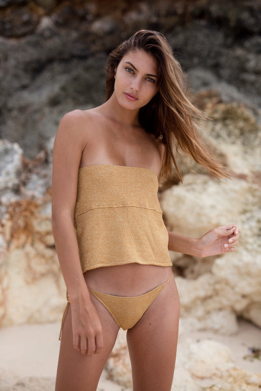 DAZED TUBE TOP - GOLD