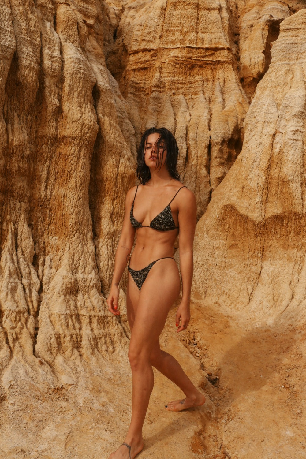 IN YOUR ARMS swimwear eco concious ethically made knitted swimsuit minimal bikini mimi elashiry