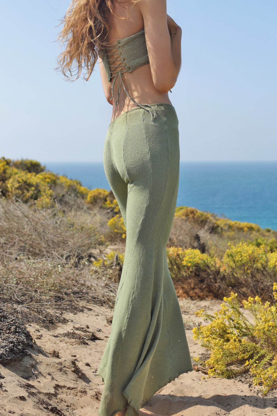 FLORENCE FLARES - MOSS GREEN