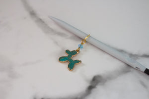 Deluxe Teal Balloon Animal Stitch Marker
